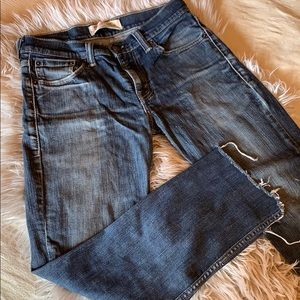 Levi's 511, cropped jeans